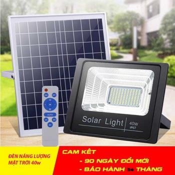 Đèn pha năng lượng mặt trời công suất - 40W
