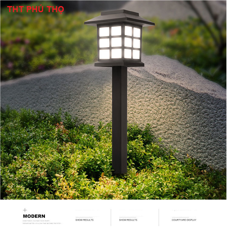 Đèn led năng lượng  trang trí sân vườn 02